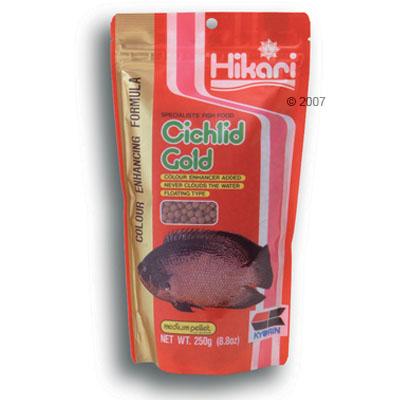 hikari cichlid gold specialiteit voer voor cichliden     medium korrels 250 g