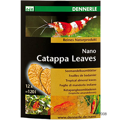 dennerle nano catappa leaves     12 stuks