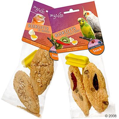 jr birds biscuits     2 stukken ei & honing
