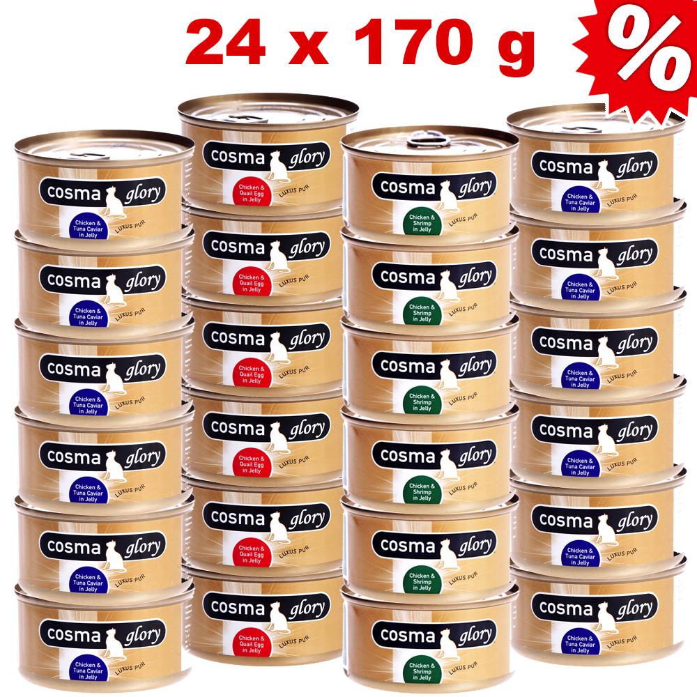 Voordeelpakket  cosma glory in gelei 24 x 170 g     gemengd voordeelpakket van kantoor artikelen tip.