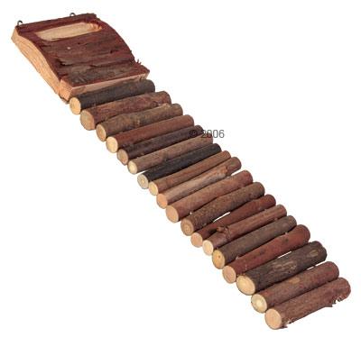 buigzame trixie  ladder uit hout voor uw knaagdier     27,5  x 7 cm
