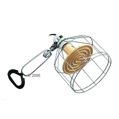 hagen exo terra porseleinen klemlamp wire light     doorsnede 14,5 cm, lengte: 22 cm