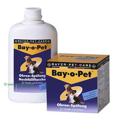 bay o pet orenspoeling     2 x 25 ml, met applicator