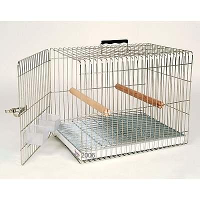 essegi carry papegaaien   grote parkieten transportkooi     onderbak metaal, traliesafstand 20 mm