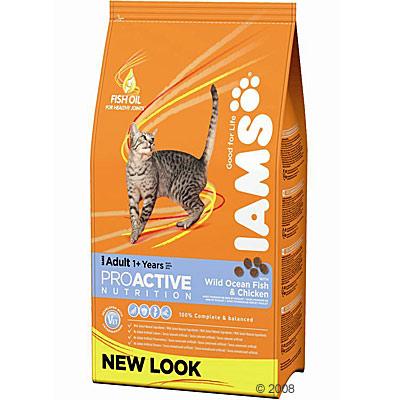 iams adult kattenvoer met kip & zeevis     1,5 kg