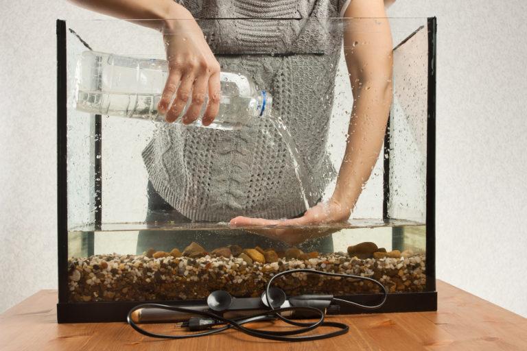 installatie van het aquarium